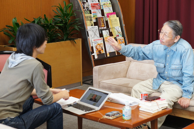 堀池喜一郎さんインタビュー風景